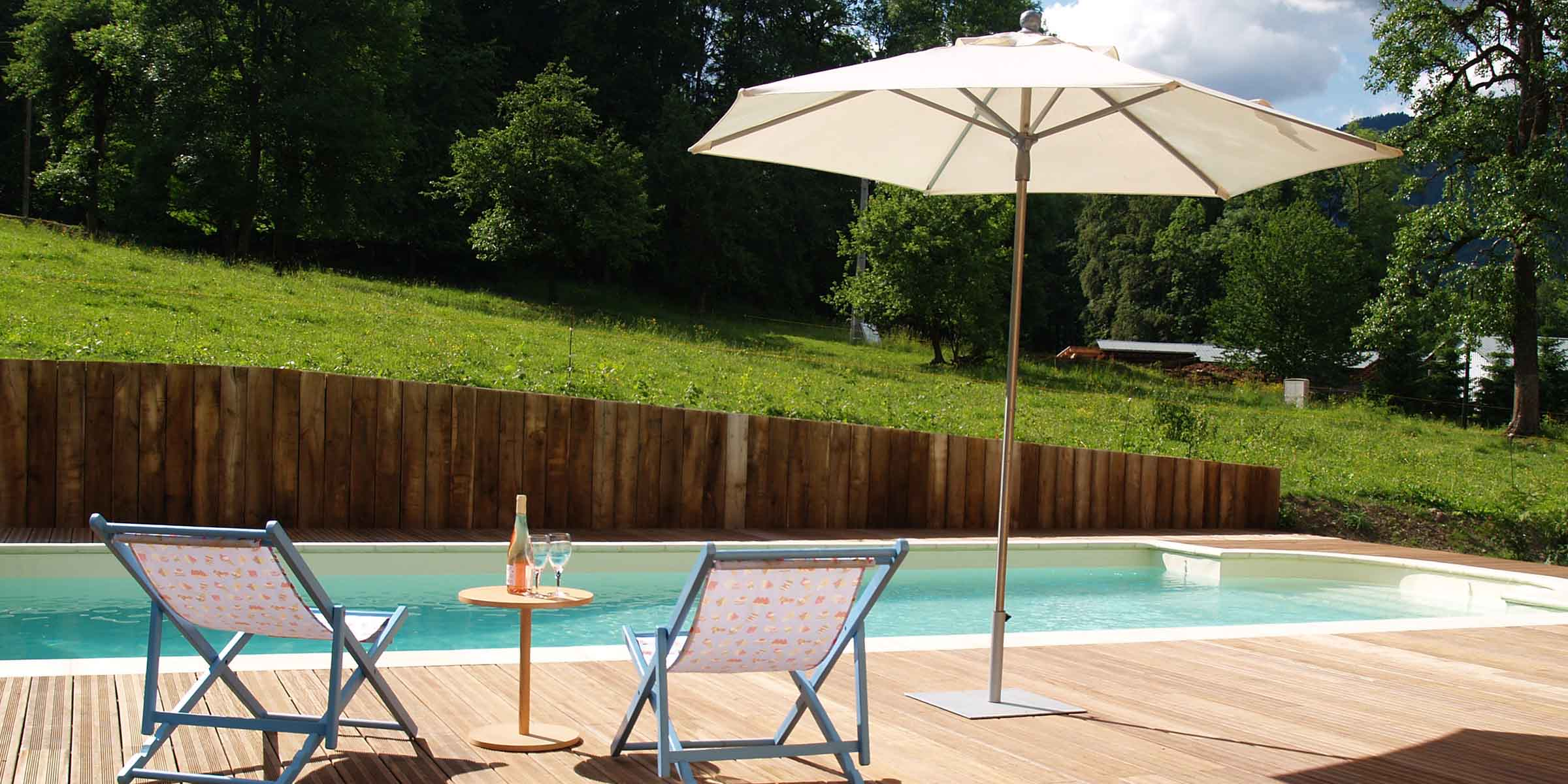 Chalet Brio swimming pool